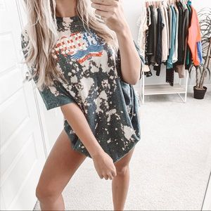Southern Bliss Bleached Oversized Freedom T-Shirt